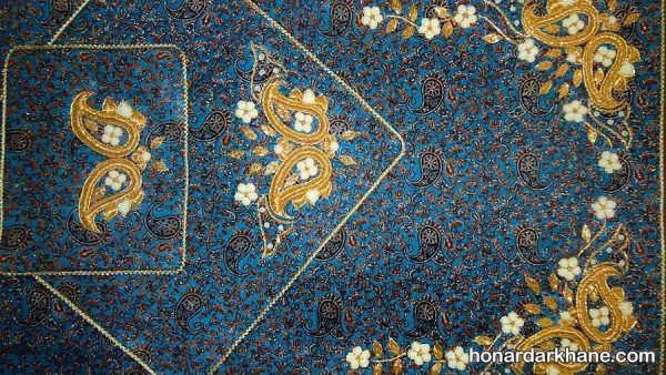 نقش زیبای ملیله دوزی روی پارچه
