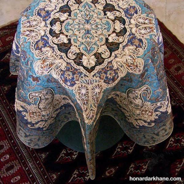 رومیزی با طرح زیبای سرمه دوزی