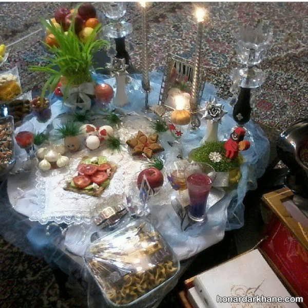 تزیین هفت سین با شمع