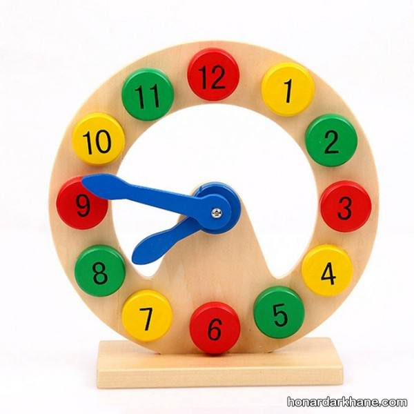 کاردستی ساعت با مقوا و کاغذ رنگی برای کودکان