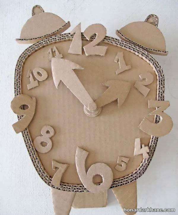 کاردستی ساعت با مقوا