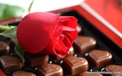 تزیین شکلات ولنتاین