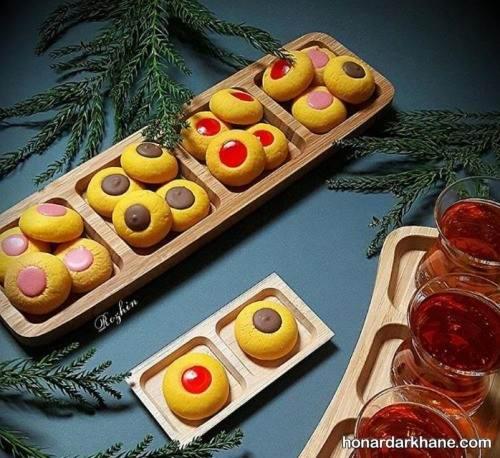 تزیین شیرینی زعفرانی با مربا