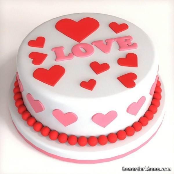 مدل کیک برای ولنتاین