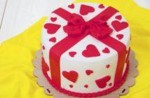 تزیین کیک ولنتاین