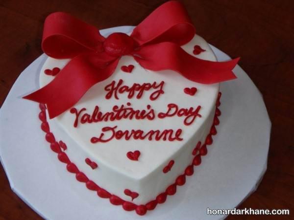 تزیین کیک برای روز عشق