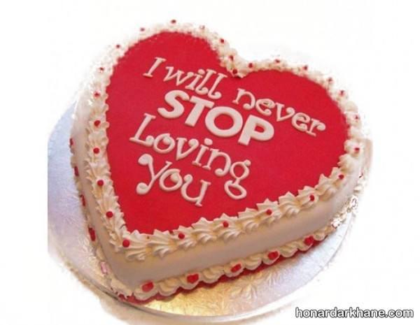تزیین کیک برای ولنتاین