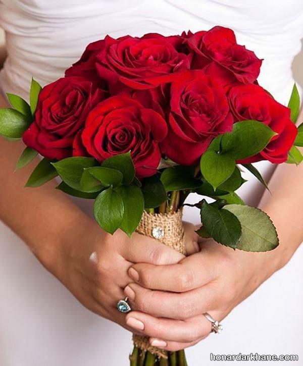 دسته گل عروس ساده