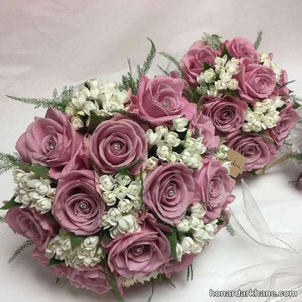 دسته گل عروس جدید و شیک با تزیینات فوق العاده زیبا