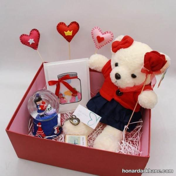 تزیین عروسک برای ولنتاین