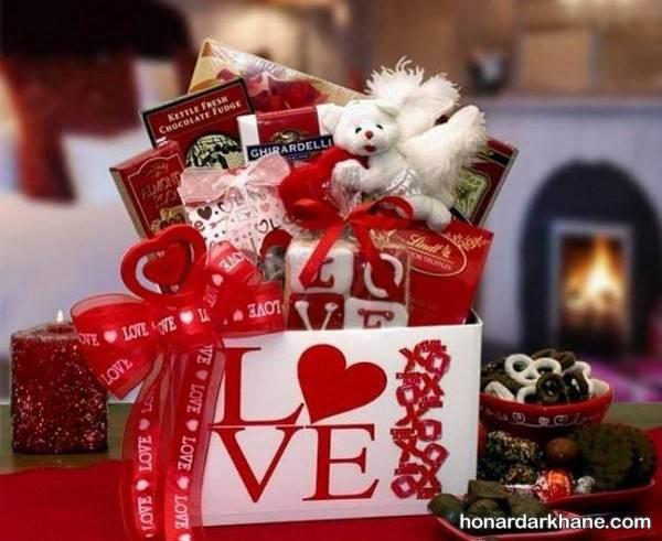 تزیین هدایای ولنتاین