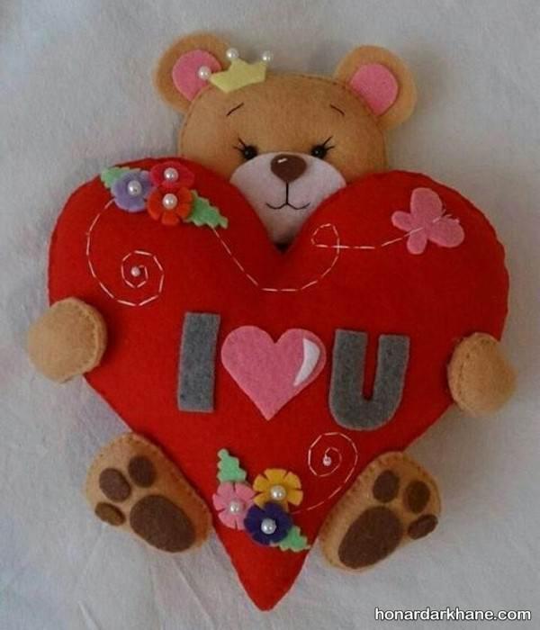 هدیه نمدی برای ولنتاین