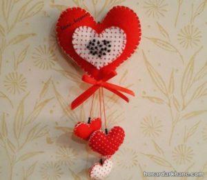 قلب نمدی برای ولنتاین