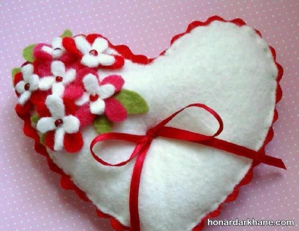 تزیین قلب نمدی برای ولنتاین