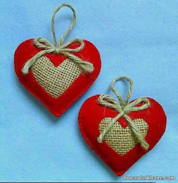 ساخت قلب نمدی قرمز
