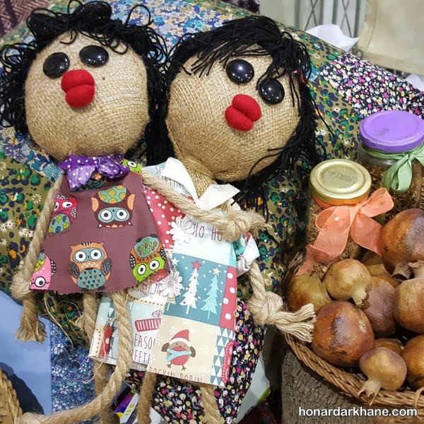 ساختن عروسک با پارچه و گونی