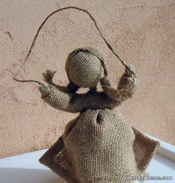 ساختن عروسک با سیم مفتول و گونی