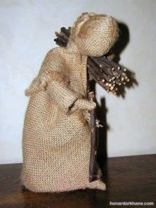 ساخت عروسک دستی با گونی