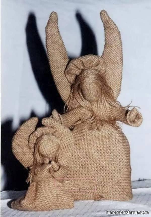 خلاقیت در درست کردن عروسک با گونی