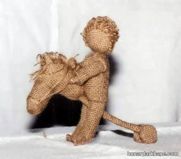 ایده متنوع ساختن عروسک با گونی
