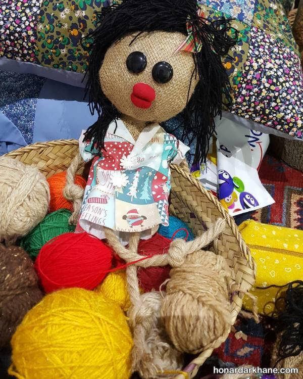 مدل جذاب ساختن عروسک با گونی