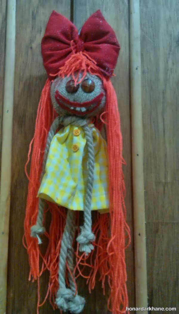 مدل عروسک با گونی