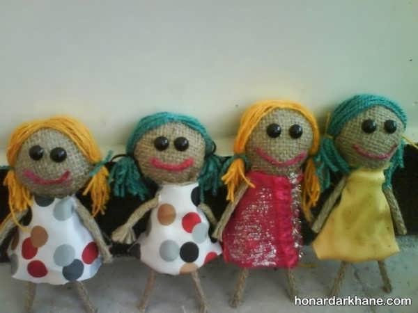 درست کردن عروسک با گونی در منزل