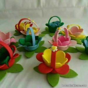 طرح زیبای گل برای هفت سین های نمدی