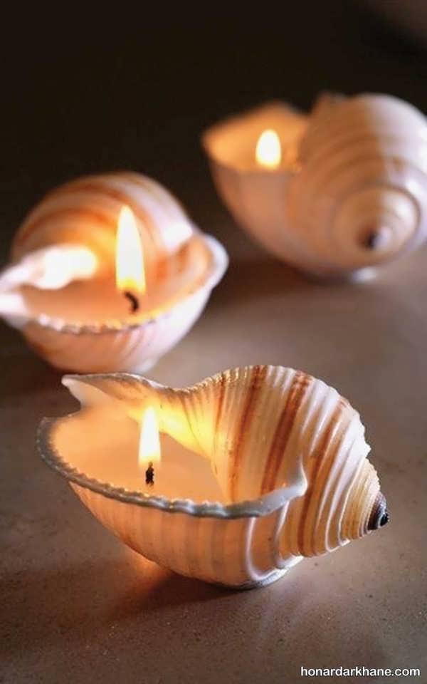 ایده جالب تزیین شمع برای هفت سین