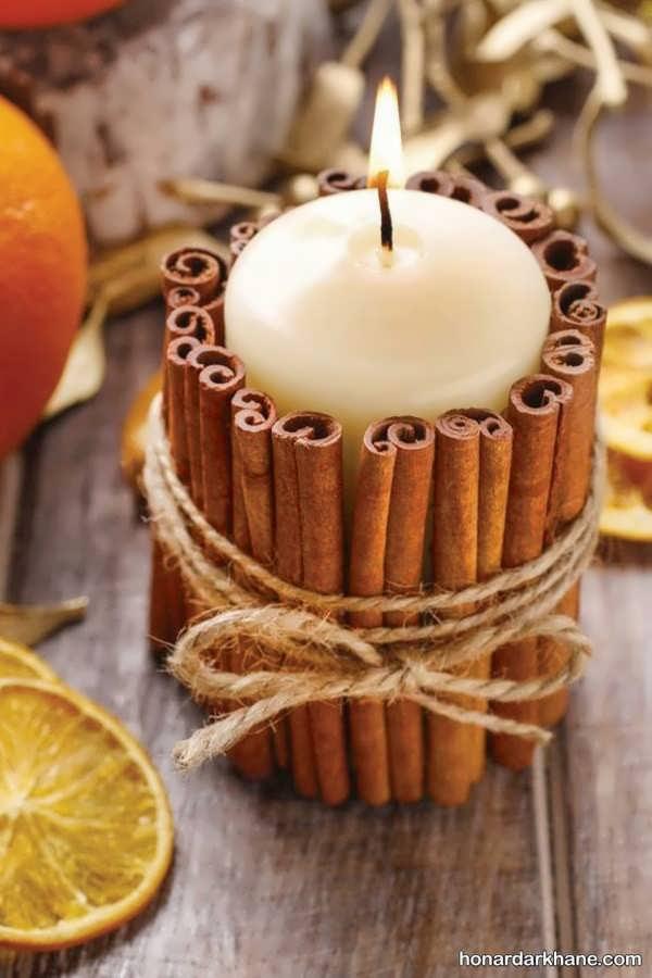 تزیین مدرن شمع هفت سین