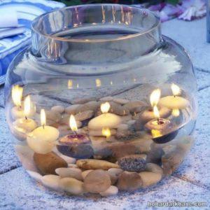 تزیین شمع زیبا برای هفت سین