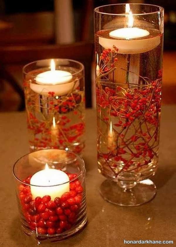 تزیین رمانتیک شمع برای هفت سین
