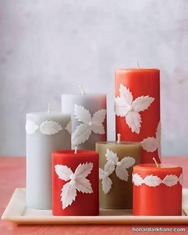 تزیین شمع با گل چینی
