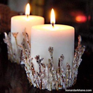 روش آسان تزیین خانگی شمع