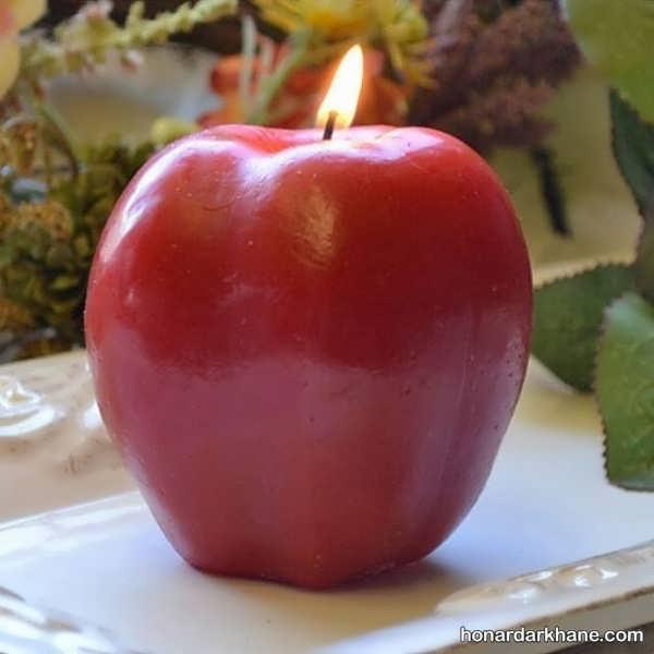 روش درست کردن شمع به شکل سیب