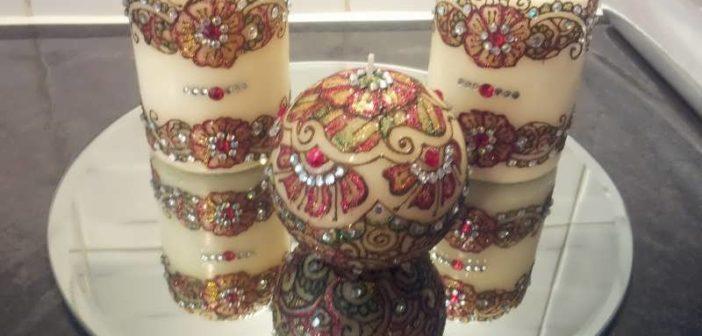 شمع هفت سین با تزیینات زیبا و متفاوت (۱۶مدل شمع)