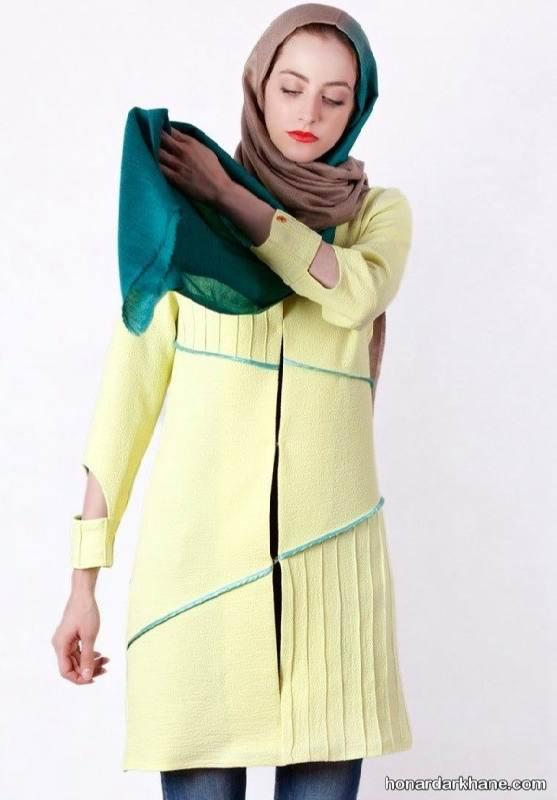 مدل مانتو لیمویی جدید و زیبا