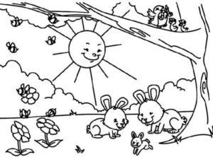نقاشی فصل بهار