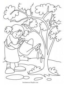 نقاشی کودکانه بهار