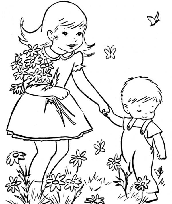 نقاشی کودکان درباره فصل بهار