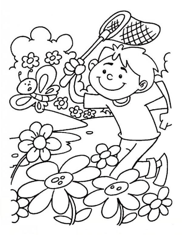 نقاشی کودکانه فصل بهار