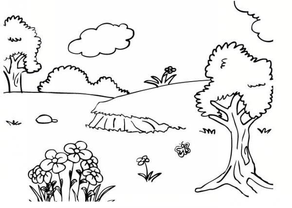 نقاشی طبیعت در بهار