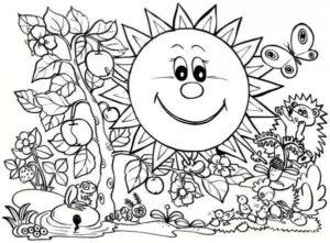 نقاشی کودکان از فصل بهار