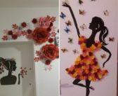 تزیین دیوار با مقوا و کاغذ با ایده های خلاقانه و بسیار خاص و شیک