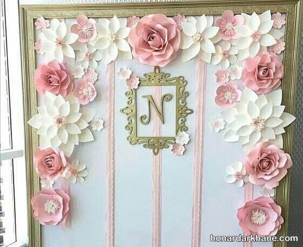 تزیین دیوار با گل