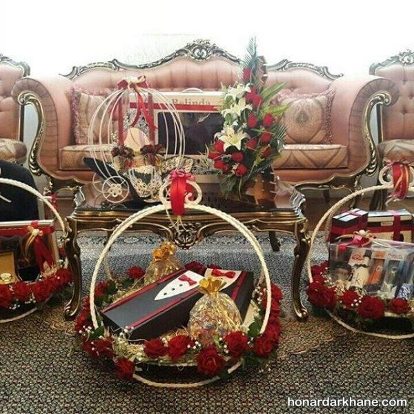 تزیین وسایل عیدی عروس