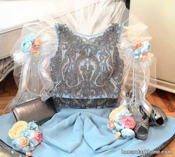 تزیین لباس برای عیدی عروس