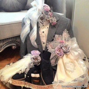 تزیین وسایل برای عیدی عروس