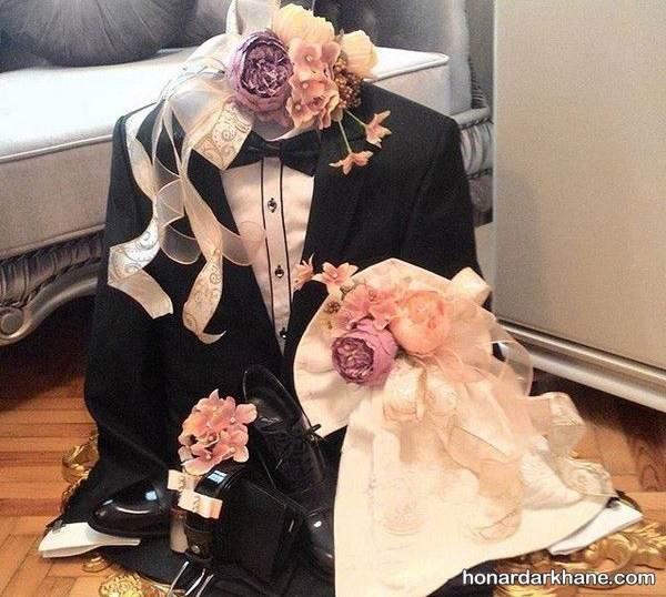 تزیین وسایل عروس