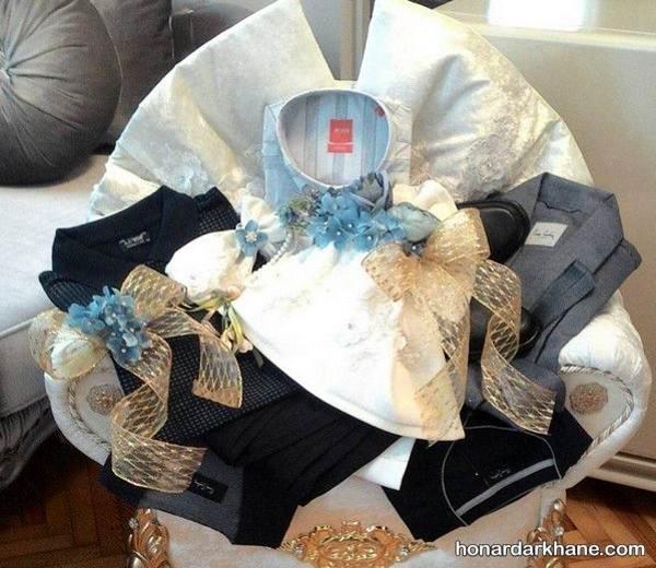 تزیین هدیه های عیدی عروس